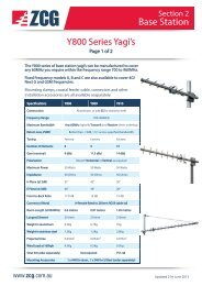 Yagi Y800 Series Base Station Antennas, 700 to 960 ... - ZCG Scalar
