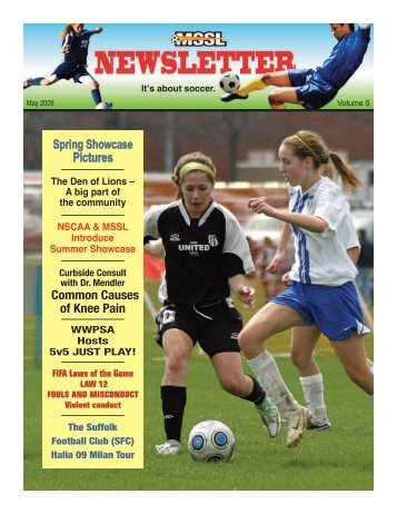 NEWSLETTER: MAY / JUNE 2009 - Socceragency.net