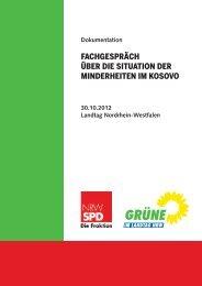 Situation der Minderheiten im Kosovo - Aktion 302