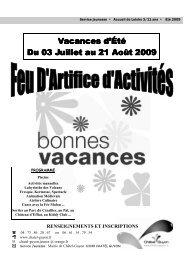 Programme activités 3 11 ans été 2009 - Chatel Guyon