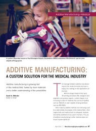 Additive MAnufActuring: - Society of Manufacturing Engineers