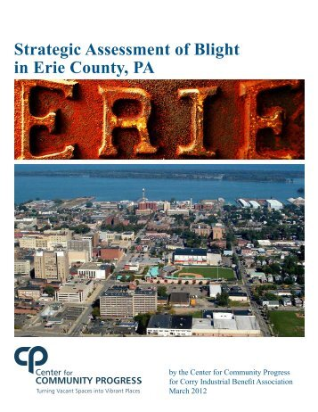 Strategic Assessment of Blight in Erie County, PA
