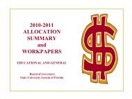 2010-2011 Allocation Summary and Workpapers - Florida Board of ...