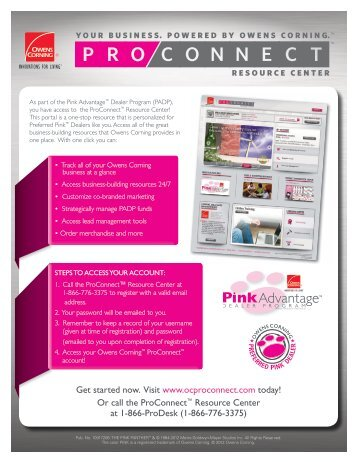 Owens Corning's ProConnect Flyer - Huttig Building Products