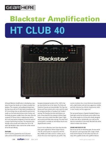 Guitar Edge May 10 Review - Blackstar Amplification