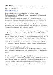 KUNST Magazin Sammlergespräch: Tommi Brem ... - Rudolf Reiber