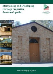 Maintaining and Developing Heritage Properties An owner's guide