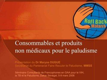 Consommables et produits non médicaux pour le paludisme - ReMeD