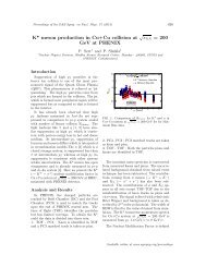 K* meson production in Cu+Cu collision at √s NN ... - Sympnp.org