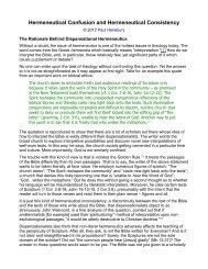Hermeneutical Confusion and Hermeneutical ... - Spirit & Truth.org