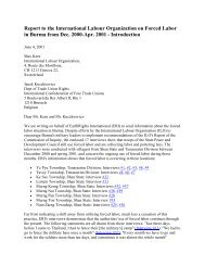 Report to the International Labour Organization on Forced Labor in ...