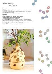 Arbeitsanleitung Vase Nr. 1 - Glorex