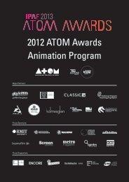 2012 ATOM Awards Animation Program - Metro Magazine