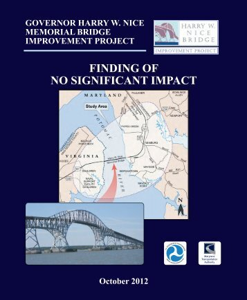 Finding of No Significant Impact - Maryland Transportation Authority