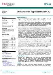 Banks - Düsseldorfer Hypothekenbank AG