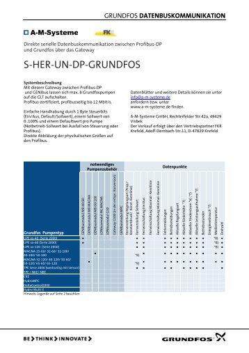 DATENBUSKOMMUNIKATION - Grundfos