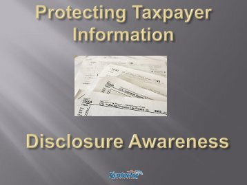 Protecting Taxpayer Information - Kentucky: Revenue Employee ...