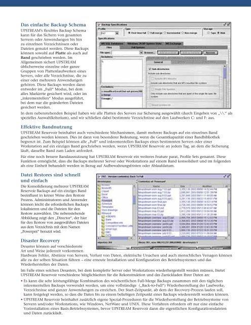 UPSTREAM Reservoir - Innovation Data Processing