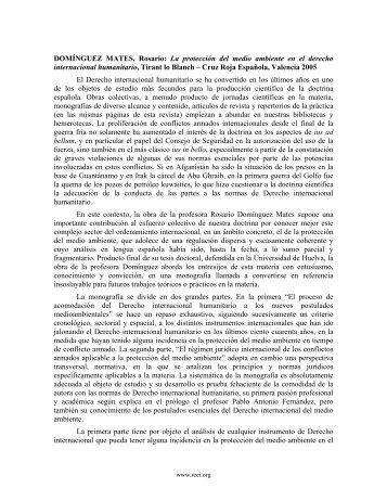 La protección del medio ambiente en el derecho internacional ...