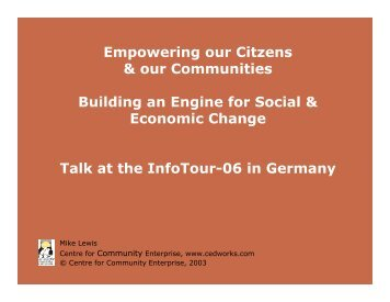 Empowering our Citzens & our Communities Building an Engine for ...