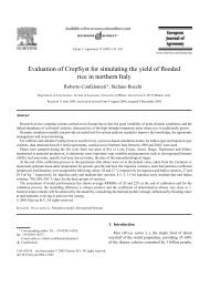 Evaluation of CropSyst for simulating the yield of ... - ResearchGate