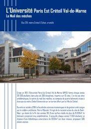 L'Université Paris Est Créteil Val-de-Marne Le Mail des mèches