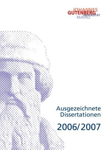 Ausgezeichnete Dissertationen 2007 (pdf) - im Fachbereich Physik ...