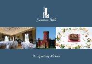 Banqueting Menus - Swinton Park