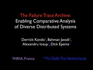 The Failure Trace Archive: Enabling Comparative Analysis of ...