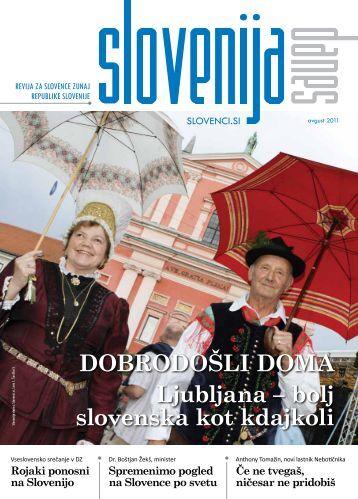 DOBRODOŠLI DOMA Ljubljana – bolj slovenska kot kdajkoli