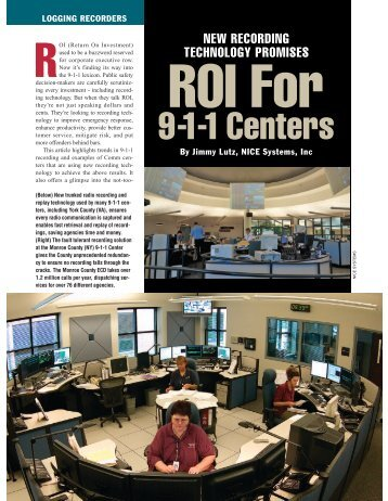 9-1-1 Centers - Security Resource Center - NICE Systems