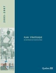 Plan stratégique du Secrétariat du Conseil du trésor (2005-2007)