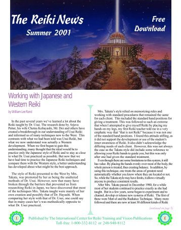 Download 24 Page Reiki News Summer 2001 - The International ...