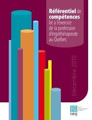 Référentiel de compétences - Ordre des ergothérapeutes du Québec