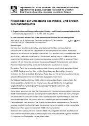 Fragebogen zur Umsetzung des Kindes- und Erwach ... - Kreis Ilanz