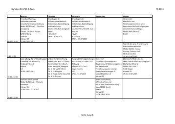 Kursplan BA VWL 2. Sem. SS 2013 Seite 1 von 6
