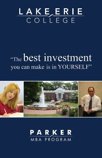 The Best Investment - Lake Erie College