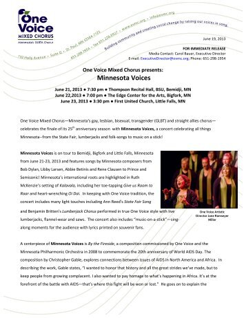 Minnesota Voices Gre.. - One Voice Mixed Chorus
