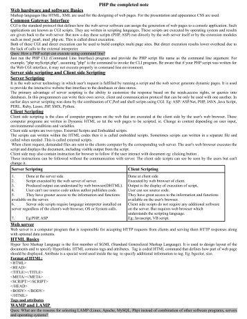 PHP Notes(pdf) - DOC SERVE