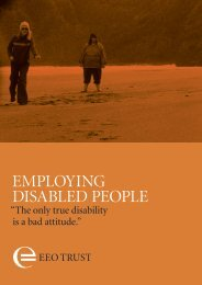 employing disabled people - Equal Employment Opportunities Trust