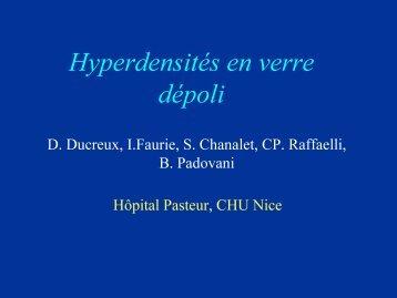 Hyperdensités en verre dépoli