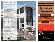 sponsorship brochure - SFSC Performing Arts