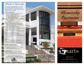 sponsorship brochure - SFSC Performing Arts