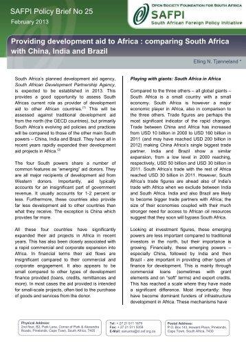 SAFPI Policy Brief 25