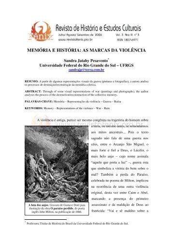as marcas da violência - Revista de História e Estudos Culturais