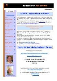 Nyhedsbrev ALS FORUM - ALS Gruppen Vestjylland