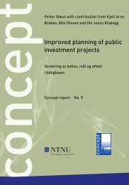 Improved planning of public investment projects - Concept - NTNU