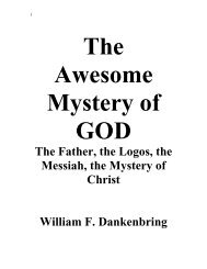 The True Nature and Mystery of GOD - Triumphpro.com