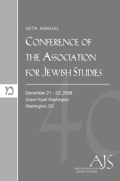 Entire Conference Program Book - Association for Jewish Studies