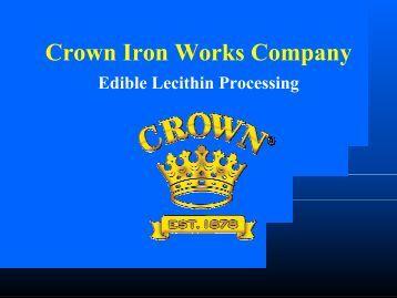 Maxefficiency Deodorizing System Crown Iron Works Company